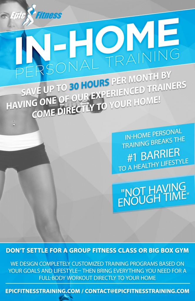 1 - In Home Personal Training Flyer - Epic Fitness